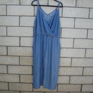 A New Day Chambray Dress with elastic waist XL